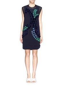 3.1 Phillip Lim Shift Sleeveless Embellished Navy Tank Dress