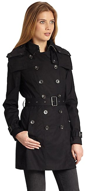 Item - Black Removable Warmer Jacket Us Eu 38 Coat Size 4 (S)
