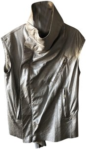 Rick Owens Metallic Leather Vest