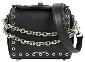 Alexander McQueen Leather Eyelet Box 16 Cross Body Bag