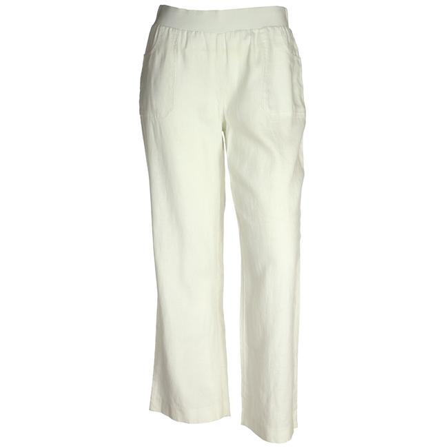 Item - White 14w Pull On Linen Pants Size 14 (L, 34)