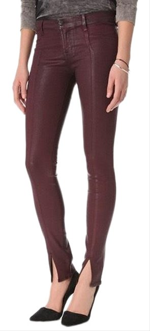 Item - Burgundy Coated Skinny Jeans Size 4 (S, 27)