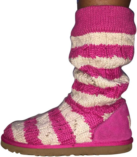 Item - Pink Sock Knit Boots/Booties Size US 8 Narrow (Aa, N)