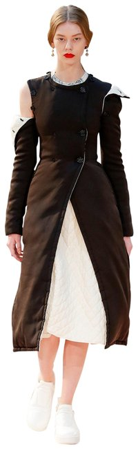 Item - Brown and Cream Satin Padded Dual Color Coat Size 6 (S)