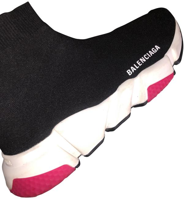 Item - Black and Pink Speed Sock Sneakers Size EU 40 (Approx. US 10) Regular (M, B)