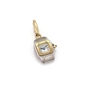 Cartier Santos Paris 18k Two Tone Gold Watch Charm Pendant