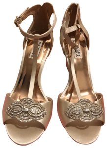Badgley Mischka Champagne Wedges