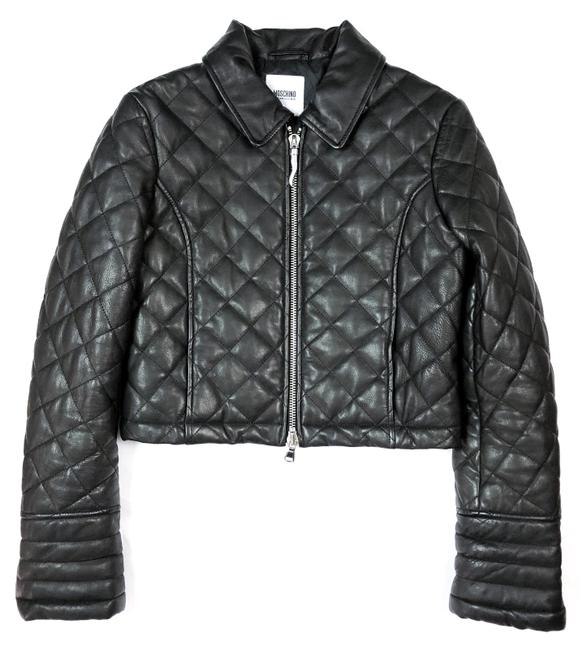 Item - Black Cheap and Chic Quilted Cropped Moto Jacket Size 8 (M)