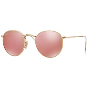 Ray-Ban RAY BAN RB3447 GOLD METAL ROUND COPPER FLASH LENS SUNGLASSES