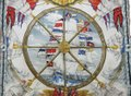 Hermes HR049 Silk Scarf 90 Vive Le Vent Thioune Ship Nautical White Red