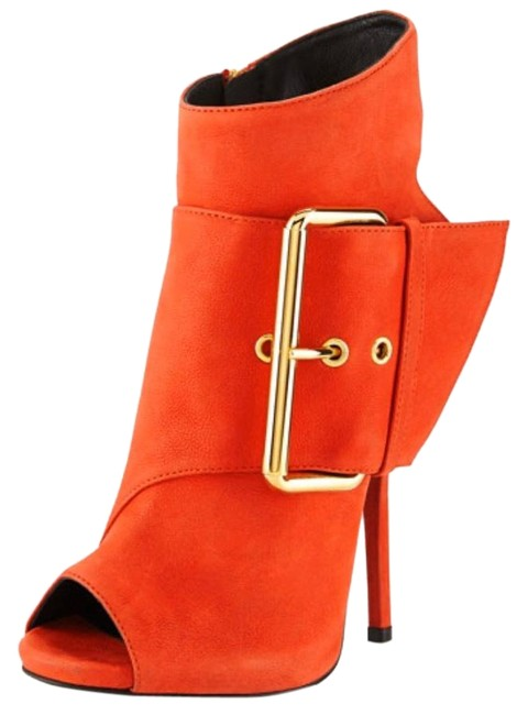 Item - Red Zanotti-leather-peep-toe-high-heel-bootie-red Boots/Booties Size EU 41 (Approx. US 11) Regular (M, B)