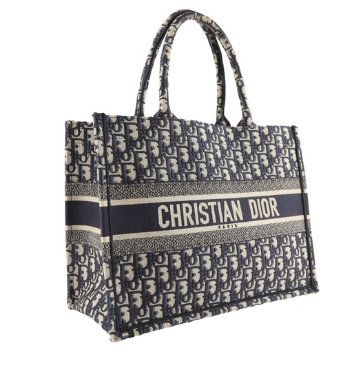 Christian Dior Canvas Tote in blue Image 1