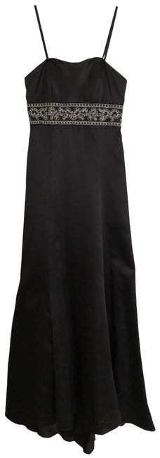 Item - Black with Silver Detail Style Number 10906 Long Formal Dress Size 4 (S)
