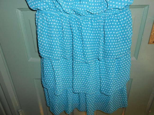 As U Wish short dress Turquoise Tiered Layered Tier Spaghetti Strap Scoop Neck on Tradesy