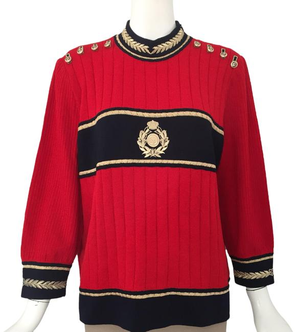 Item - Embroidery Logo Red/ Navy/ Gold Sweater