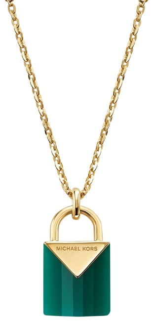 Item - Gold-tone New 14k Gold-plated Sterling Silver Padlock Mkc1039aj Necklace