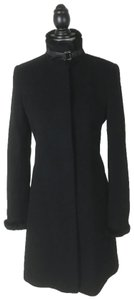 Via Spiga Wool Cashmere Rabbit Fur Pea Coat