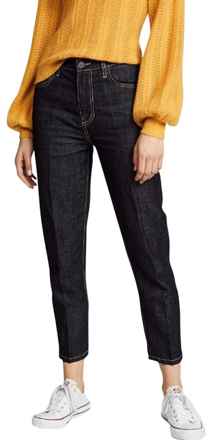 Item - Blue Dark Rinse The Vintage Cropped Denuded Straight Leg Jeans Size 26 (2, XS)