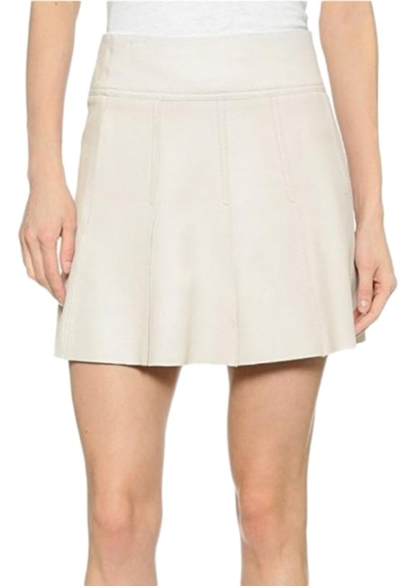 Item - Ivory Sierra Silver Pleated Leather Skirt Size 4 (S, 27)