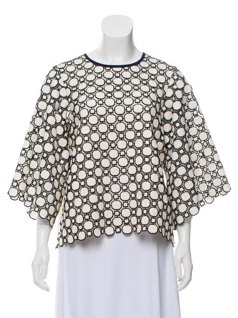 Tory Burch Black and White Blouse Size 6 (S) Tory Burch Black and White Blouse Size 6 (S) Image 1