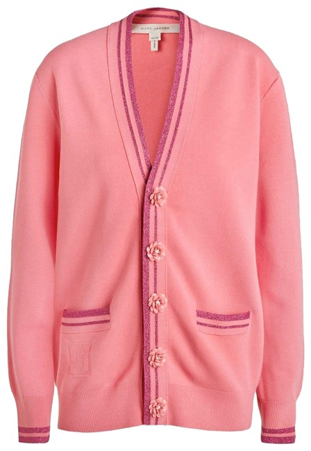 Item - Pink Flower Button Luxe Cardigan Size 4 (S)