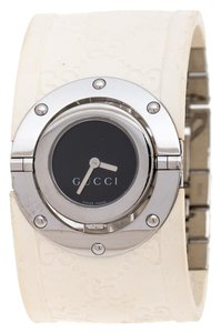 Gucci Black Stainless Steel Guccissima Monogram Twirl Womens Wristwatch 23mm