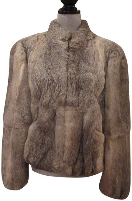 Item - Gray L Glamorous Genuine Natural Rabbit Coat Size 12 (L)