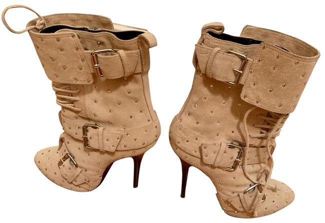 Item - Blush Suede Crystal Boots/Booties Size US 9 Regular (M, B)