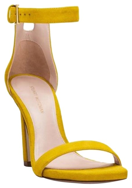 Item - Yellow Nudist 75mm Ankle Strap Suede Sandals Size US 9 Regular (M, B)