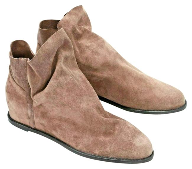 Item - Beige Brown Light Brown Tan Sprite Slouchy Suede Wedge Ankle Boots/Booties Size US 9.5 Regular (M, B)