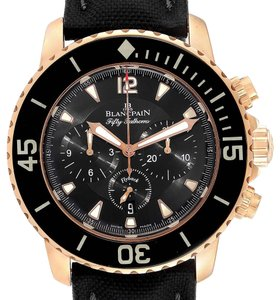 Blancpain Blancpain Fifty Fathoms Flyback Rose Gold Chronograph Mens Watch 5085F