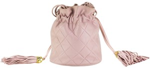 Chanel Vintage Drawstring Bucket Mini Micro-mini Quilted Lambskin Hobo Bag