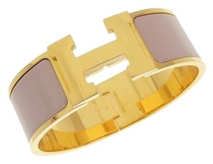 Hermes Genuine HERMES Hermes Click Crack GM Bangle Pink