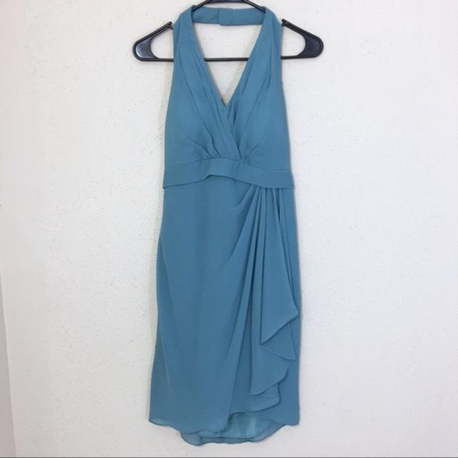 Item - Blue Traditional Bridesmaid/Mob Dress Size 4 (S)