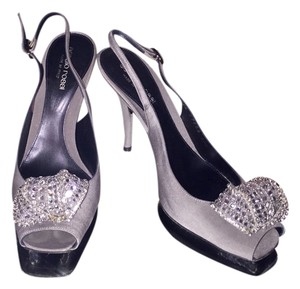 Sergio Rossi Evening Silver Grey Pumps