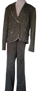 REDUCED! Focus 2000 Charcoal Turquoise Tweed Suit