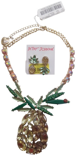 Item - Yellow New Pineapple Necklace and Earrings