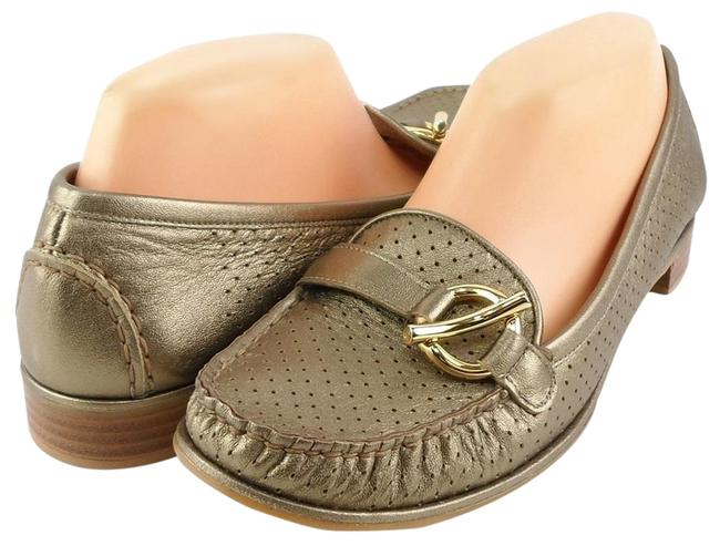 Item - Washed Gold Mocperf Ale Leather Loafers Flats Size US 9.5 Regular (M, B)