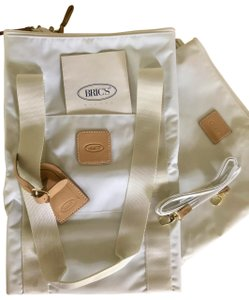 Bric's Oversized Carry On Folding Tote White Travel Bag