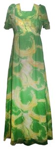 Green & Yellow Maxi Dress by Other