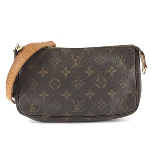 Louis Vuitton Monogram Pochette Sling Clutch Cross Body Bag