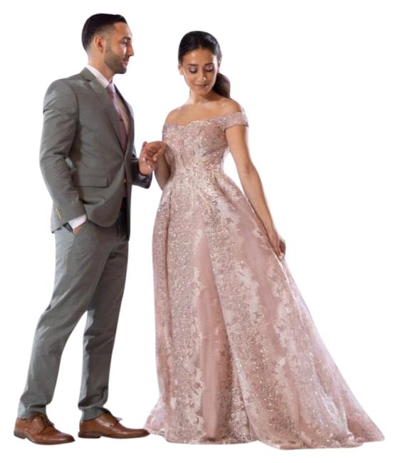 Item - Blush Couture Fitted Gown Long Formal Dress Size 4 (S)