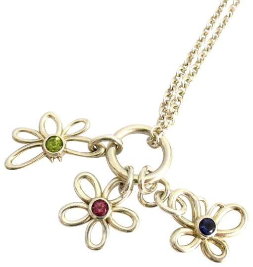Butterfly And Flower Charm Necklace