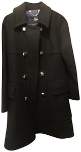 Marc Jacobs Silver Buttons Long Pea Coat