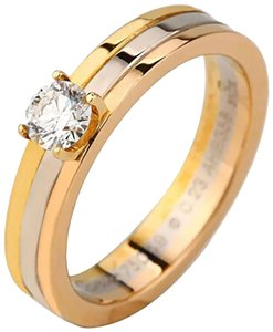 Cartier TRINITY SOLITAIRE WHITE GOLD, YELLOW GOLD, PINK GOLD, DIAMOND