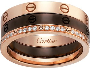 Cartier Cartier Love Ring Set Rose Gold, Ceramic and Diamond