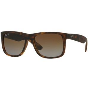 RAY BAN RAY BAN RB4165 MATTE TORTOISE JUSTIN POLARIZED BROWN GRADIENT SUNGLASS