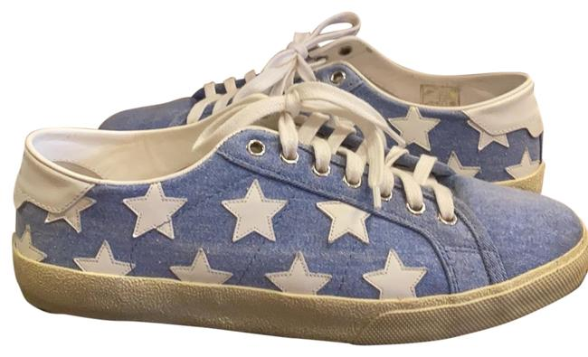 Item - Denim with White Leather Stars and Off White Sneakers Size EU 41 (Approx. US 11) Wide (C, D)