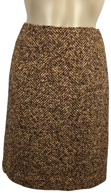 Item - Brown Woven Skirt Size Petite 8 (M)
