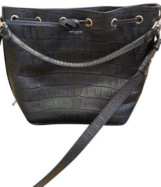 Item - Bucket Croc Embroidered Black Messenger Bag